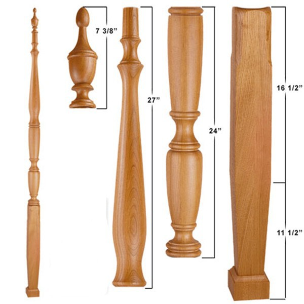 Custom morden wood bed post support in high quality from china