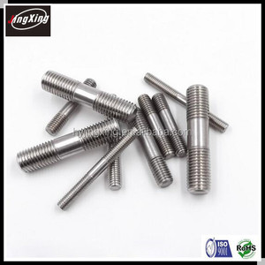 stainless steel 304 double head threaded screw/two headed screw