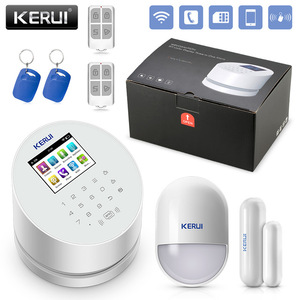 2018 factory supplier W2 wireless security gsm wifi alarm system with pir sensor door sensor and rfid card