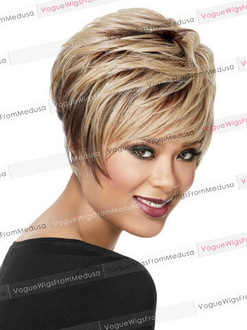 Wondrous Pixie Cut Bob Short Straight Blonde Wig With Bangs Jabsgrabs Hairstyles For Women Draintrainus