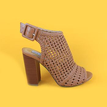 310c48e6c3f8 Women Brown Mid Heel Weaving Sandals For Lady - Buy Sandals ...