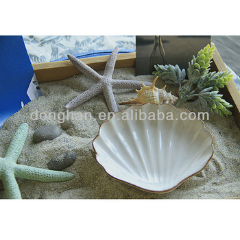 shell shaped ceramic chafing dish wholesale snack serving dishes from china