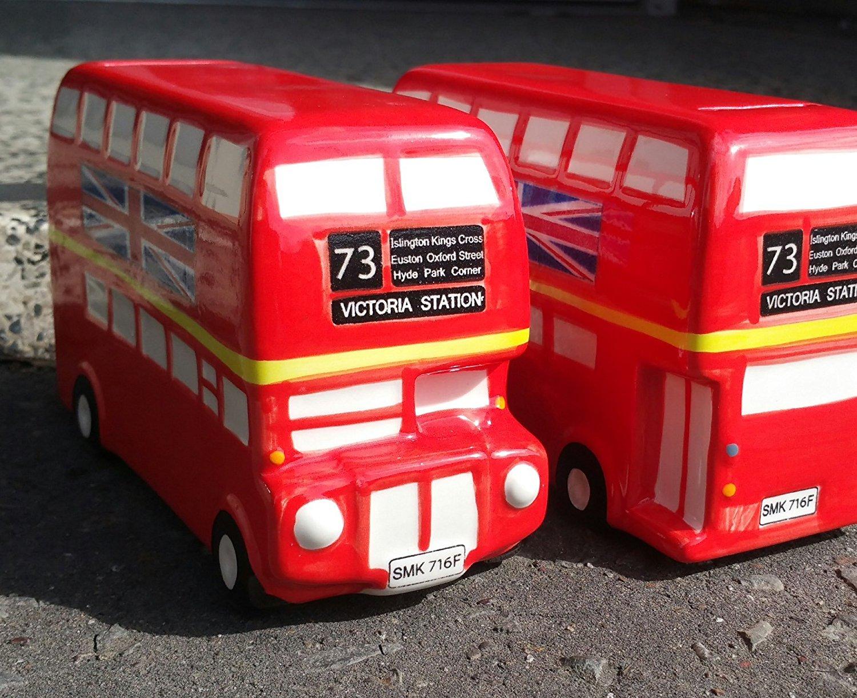 Money Box - TheGermanMarket.co.uk Route Master Bus London Ceramic Piggy Bank 18Cm Long
