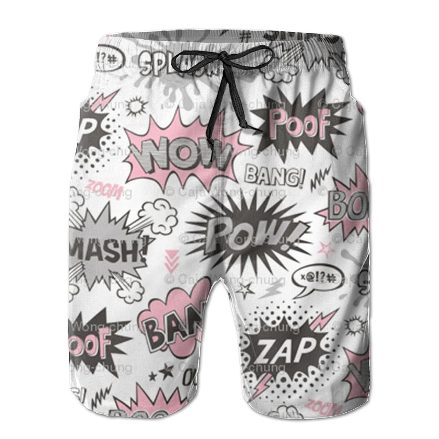 Get Quotations · WANGERSH2 Antoipyns Superhero Comic Pop AR Men s Beach  Pants cf6ae29d0