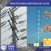 Quality galvanized power steel tubular pole