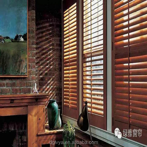stainable basswood wooden blinds with window decoration