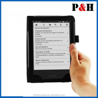 Book style PU leather case for Kindle 7, for amazon kindle touch case