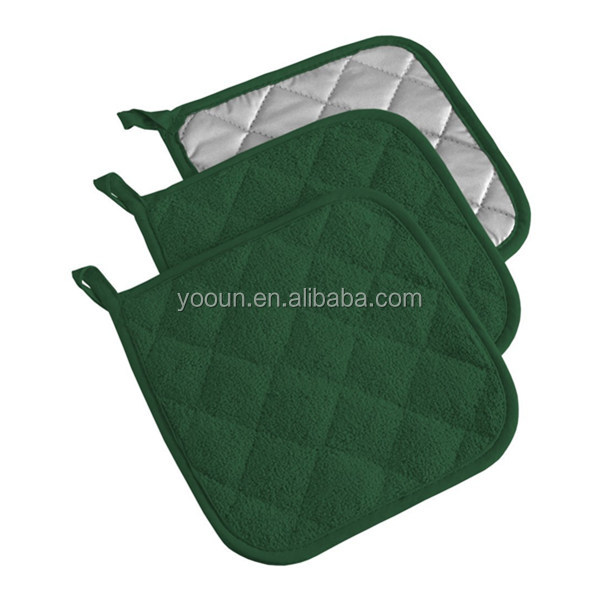 Colorful christmas oven mitt and potholder