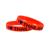 Cheap Custom Round Rubber silk screen Bracelet