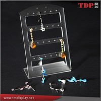 Wholesale Good Quality Acrylic Earring Stand Holder Earrings Display Stand/Jewelry Display Holder