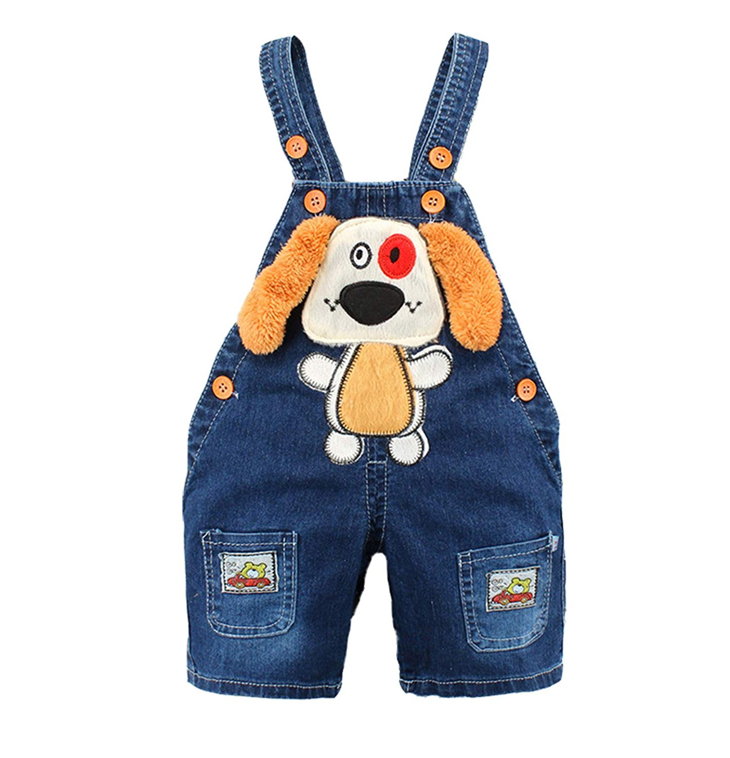 923417fe731e Hoared 6M-2T Baby Girls Denim Short Overalls For Summer Infant Toddler Kids  Jeans Rompers
