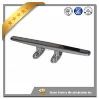 8inch stainless steel low silhouette marine open base cleat