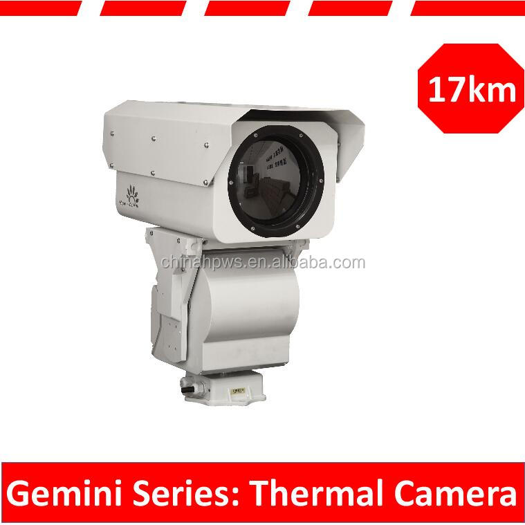 long range security surveillance day and night color cmos thermal imaging PTZ IP camera