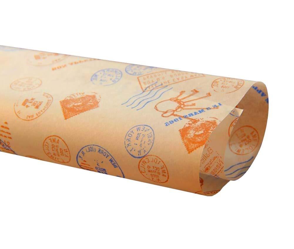 Waxed paper 29x29cm Kraft Food Coating Wrap Soap Wax Oil Greaseproof Macaroon