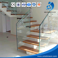 Top Class Best Price High Strength Anti Slip Tempered Glass , Laminated Safety Gass For Building