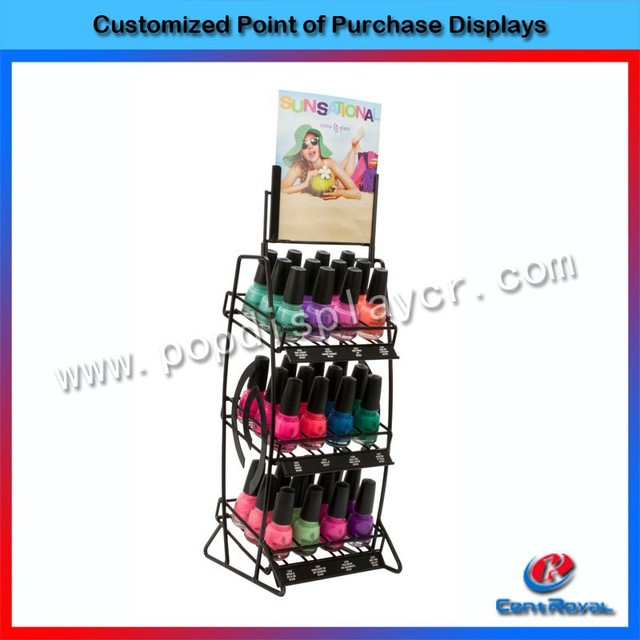 3-layer counter metal essie nail polish display rack