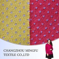 2015 high quality embroidery jacquard dobby wool fabric , with colourful dots