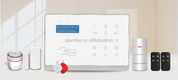 Smart Android/IOS APP control home alarm system WIFI+GSM home burglar alarm system support multi-language wireless alarm