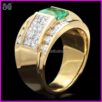 Chinese Manufacturers Big Metal Plated 18k New Gold Ring Models