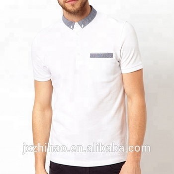 5b443774dc347 ... good hotsale fashion white polo pocket polo t shirt for men 4852e fd7d1