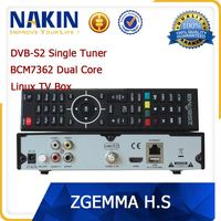 Original zgemma-star H2S Satellite TV Box Receiver BCM7362 Twin DVB S2 Tuner free to air Zgemma H.2S