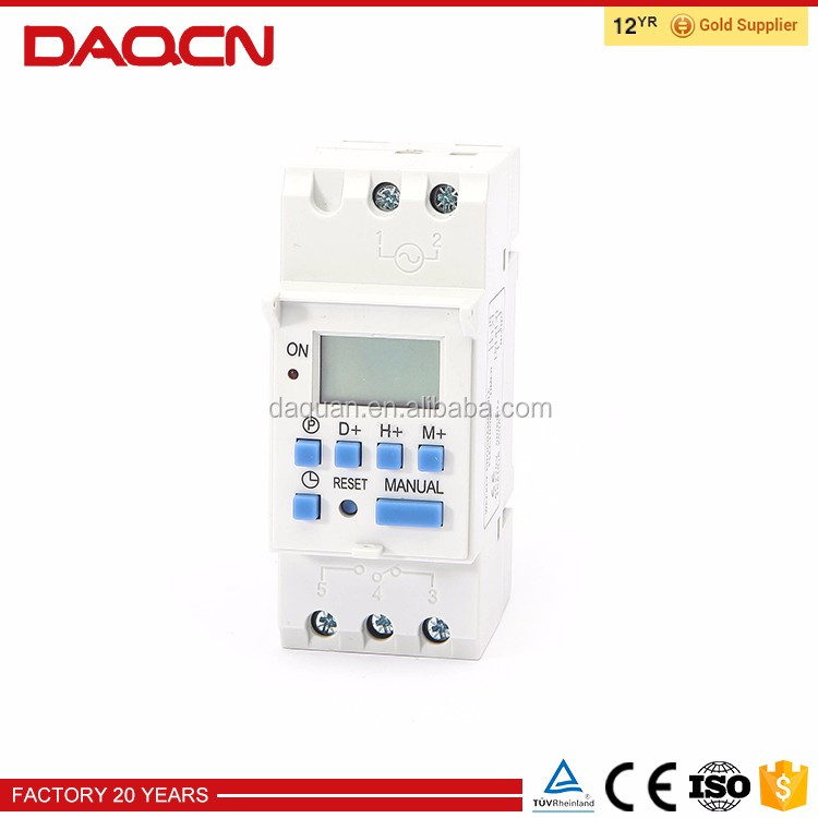 Electronic professional multifunction programmable mechanical timer switch