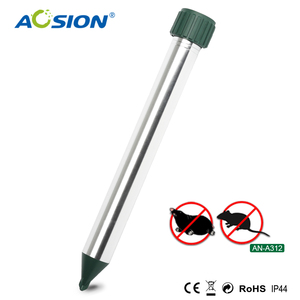 outdoor aluminum with motor vibrating tube control products sonic battery mole repeller