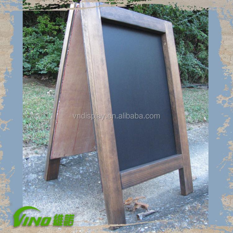 Outdoor Free Standing Chalkboard Wooden Chalkboard With Stand Advertising Chalkboard Buy Wooden Chalkboard With Stand Advertising Chalkboard Free Standing Chalkboard Product On Alibaba Com