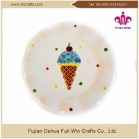 Best Selling Tableware Round custom logo ceramic plates dishes