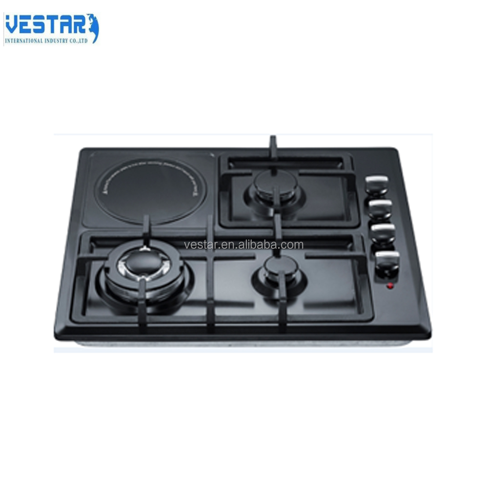 Kitchen appliance Table gas stove with 4 burners built in gas hob