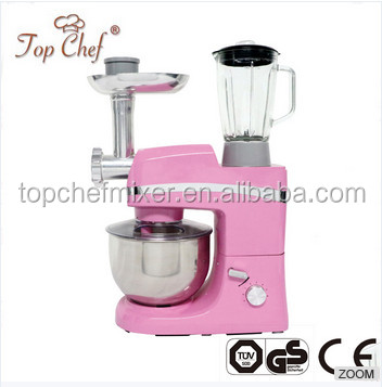 800W electric multifunctional stand food mixer with rotating bowl