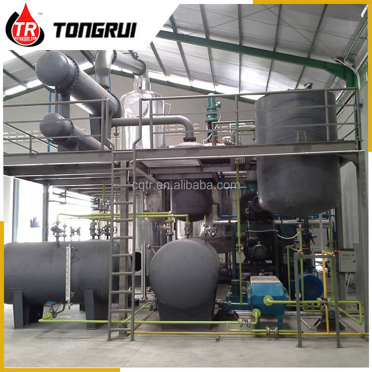 Tongrui 10 Yrs Lifespan Waste Used Synthetic Mineral Engine Oil Recycling Plant