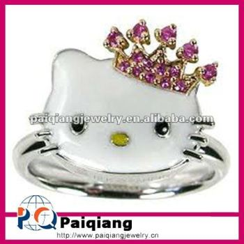Hot Selling Hello Kitty Wedding Rings