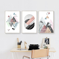 HD Prints Geometric Abstract Canvas Paintings Nordic Art Poster