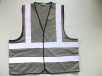 Top Design Grey High Visibility Reflective Biker/Bicycle Traffic Jacket