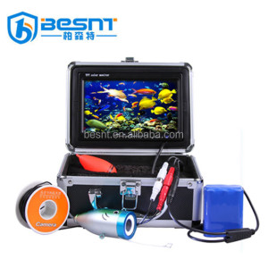 "2018 Factory cheap 8PCS white LEDS 700 TVL HD built in 16G dvr 15/30m cable 7""Color monitor underwater fishing camera"