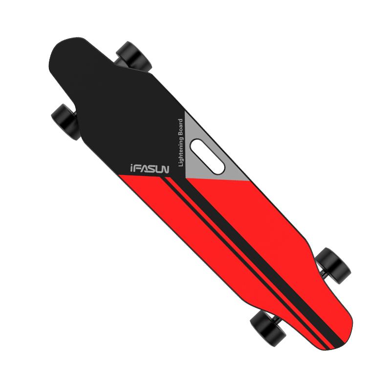 iFasun Lightning 35kmh longboard adult single belt motor 1000W electric skateboard, Customized