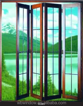 Double Glass Interior PVC Accordion Brown Color Doors Grills Design,Plastic  Sheets For PVC Folding