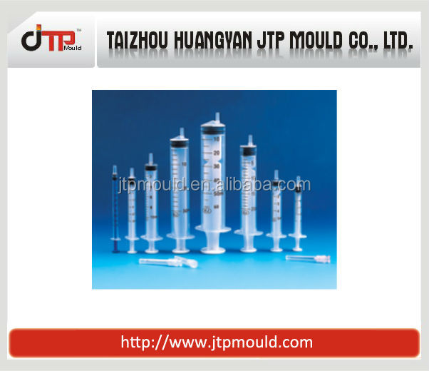 multi-farious plastic syringe with calibrated mould