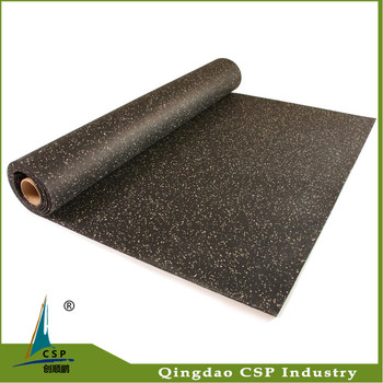 8mm and 10mm thickness non slip gym roll rubber flooring for fitness