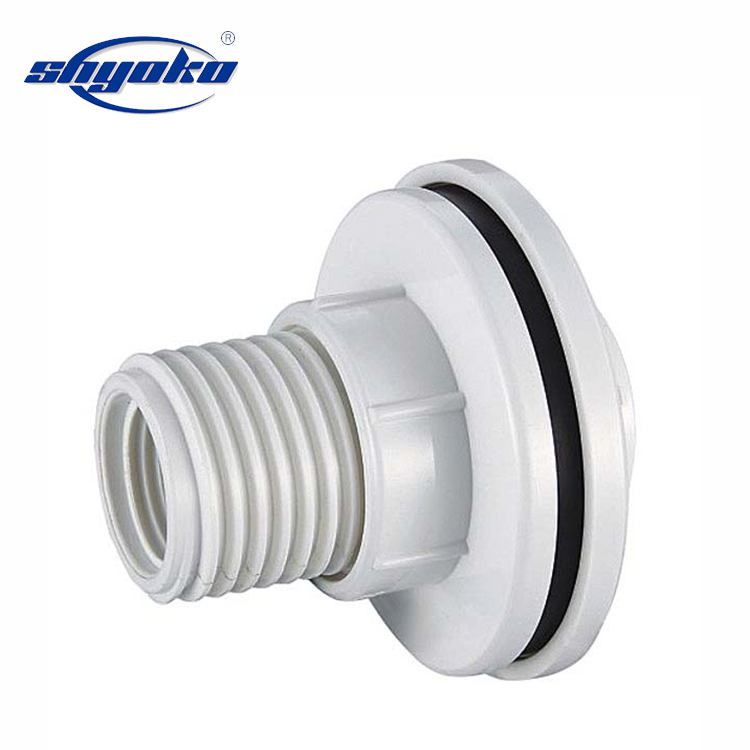 PVC tank union BSPT/npt water tank connector buis connect fittings