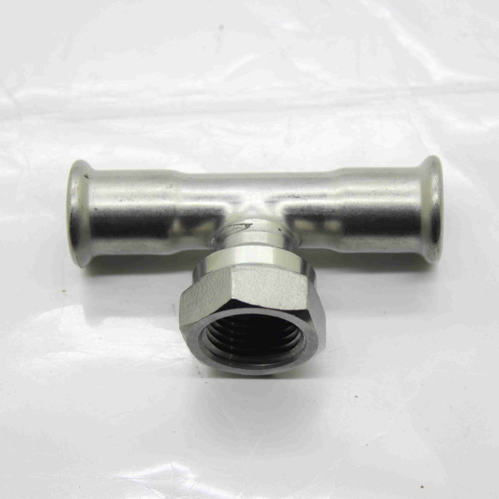hygienic stainless steel pipe fittings female thread tee M profile