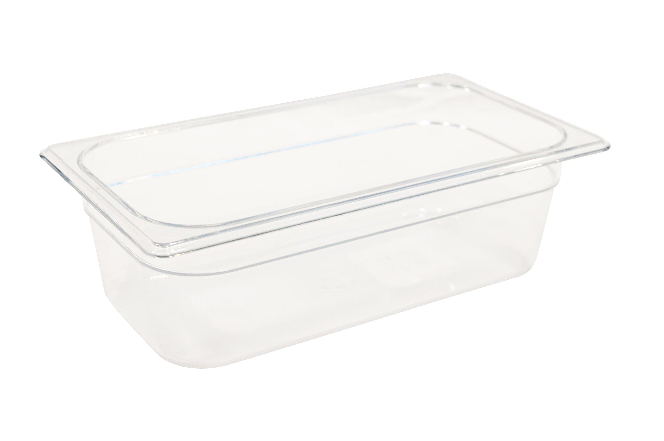 Rubbermaid Commercial Products FG117P00CLR 1/3 Size 4-Quart Cold Food Pan