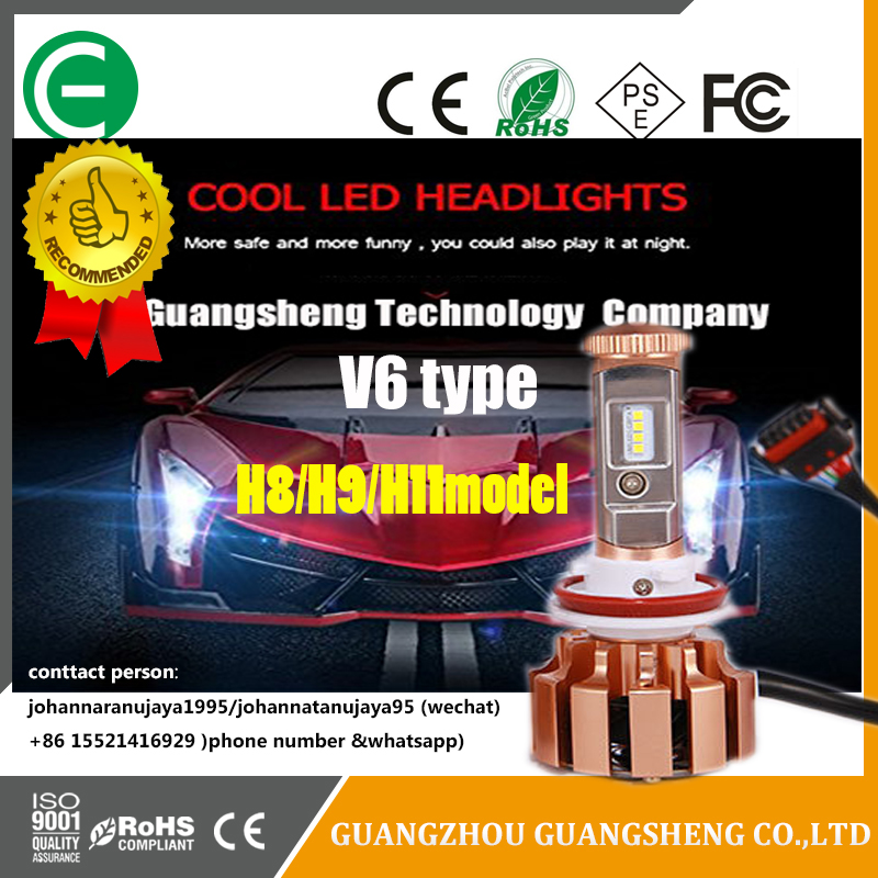 New Revolution V6 CPS chip head light LED for car has many kids of models (Hi/Low beam)