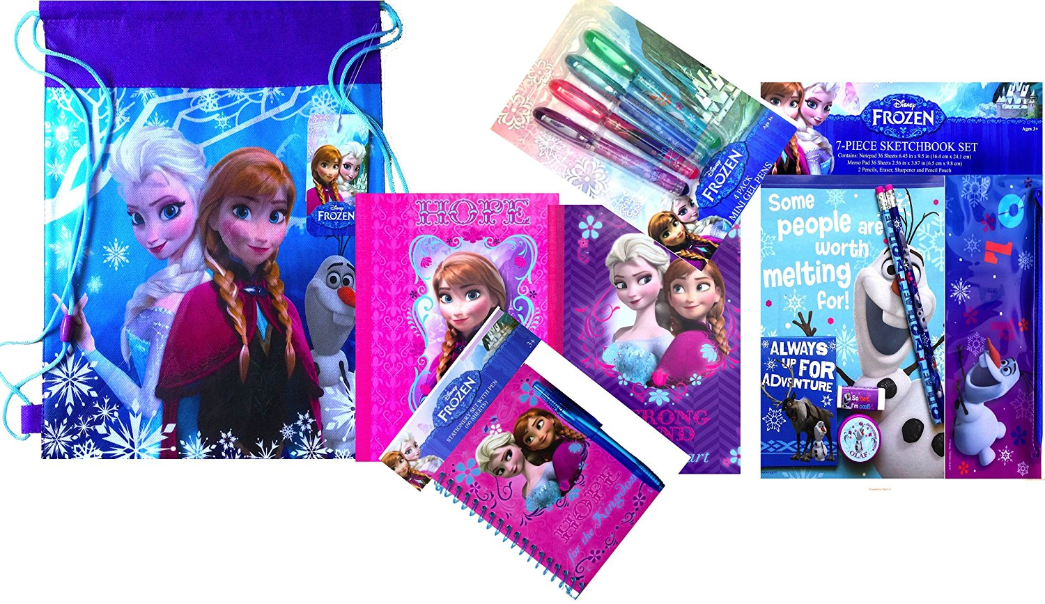 Character Themed Disney Frozen Children's Back to School Supplies Arts and Crafts Classroom Supplies with Different Variations (BASIC)