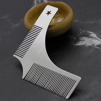 Amazon hot selling stainless steel beard shaping tool