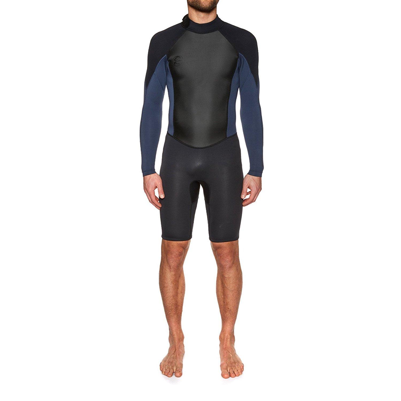 db3fe26002 Get Quotations · O Neill Original 2mm Back Zip Long Sleeve Shorty Wetsuit  Medium Blk slate