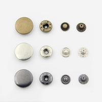 four part copper metal snap fastener press studs