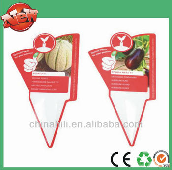 Plastic Print Waterproof Plant Labels With Flower Tags For Nursery