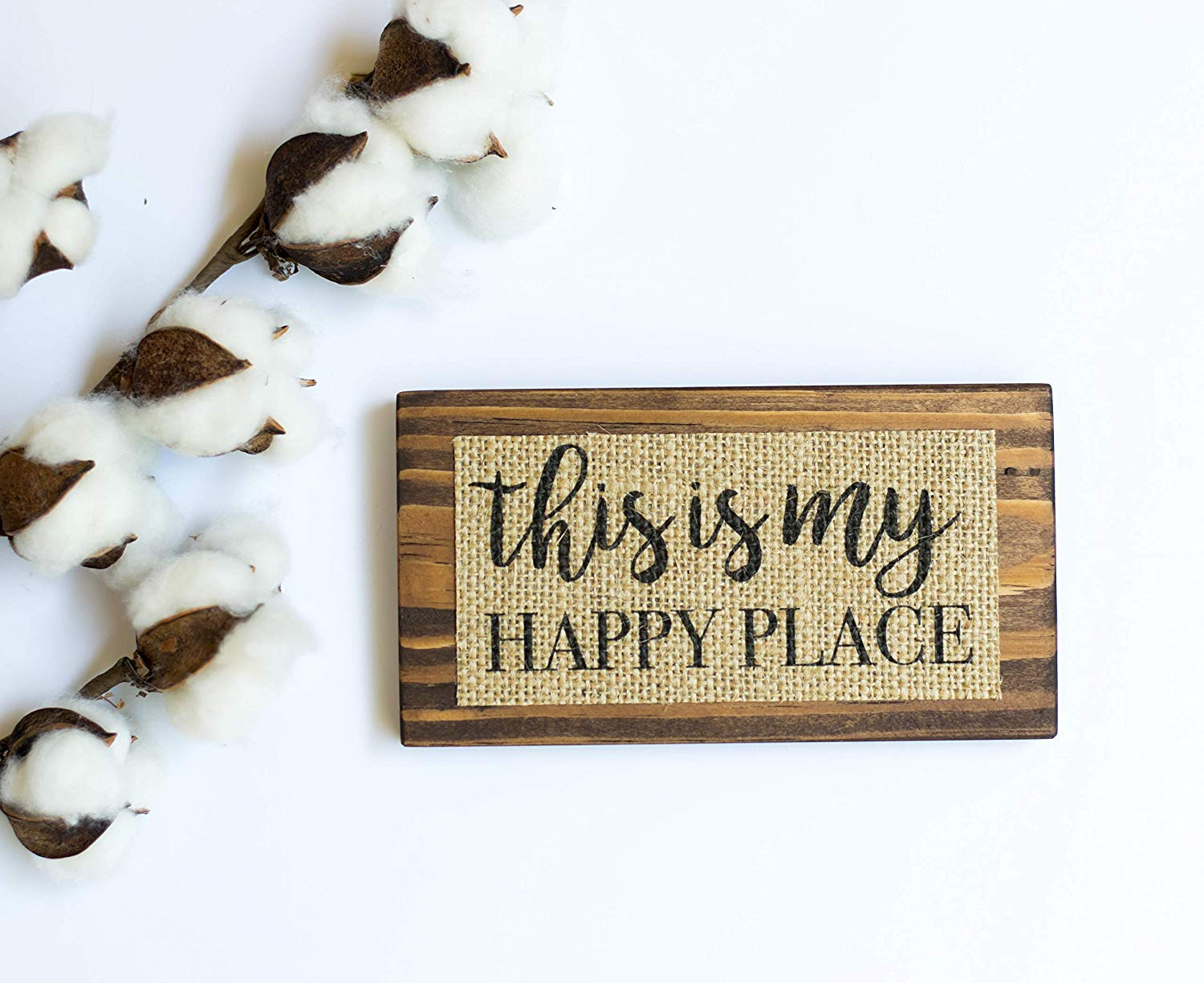 36 x 7 Wall Decor Plus More WDPM3476This is Our Happy Place Script Wall Decal Vinyl Lettering Black